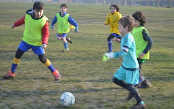 First Touch football training for kids
