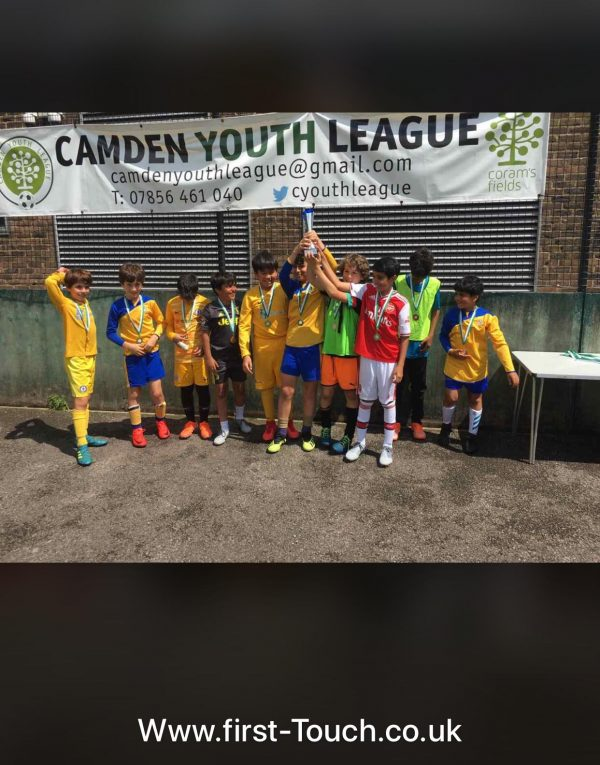 First Touch winning Camden Youth league