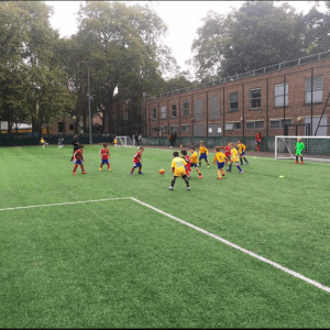 First Touch training in hydepark